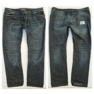 New ROBIN'S JEAN sz 44 Slim Straight Studded Jeans